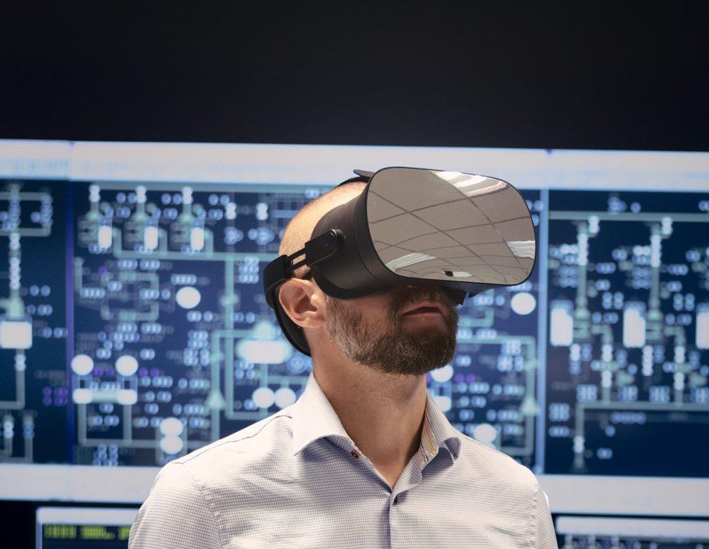 Varjo VR-1 glasses in action